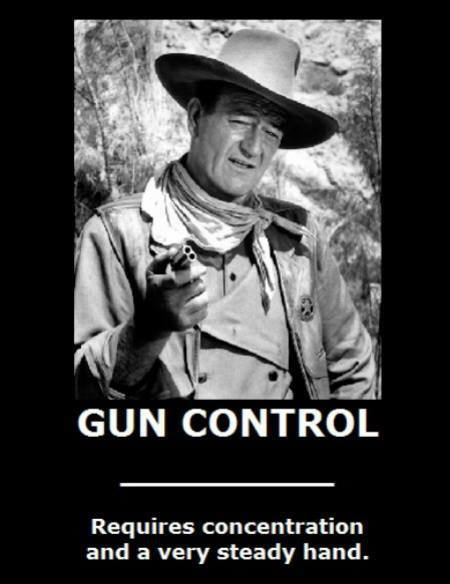 130807- John Wayne, Gun Control Photo