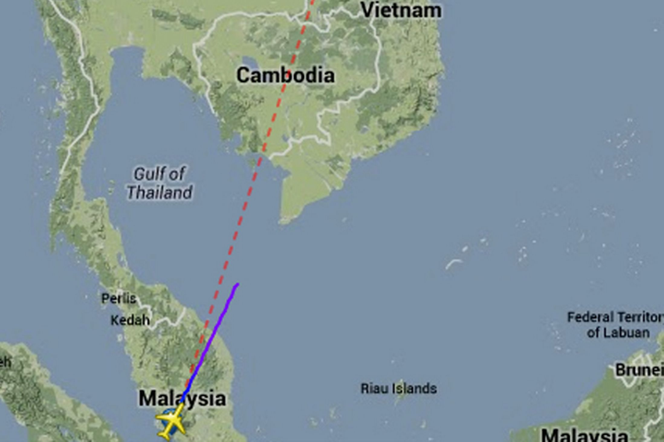 140311-Malaysia Airline Flight 130 Path