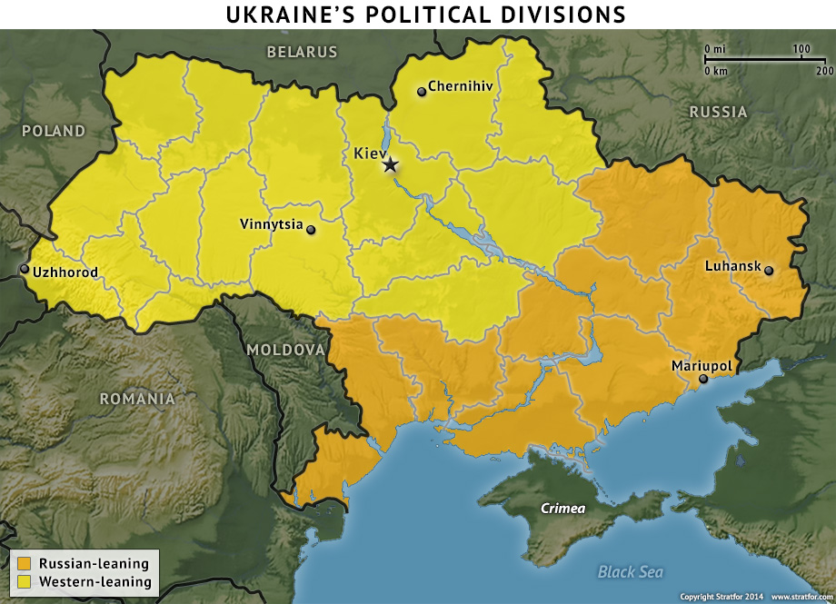 Ukraine East-West Division