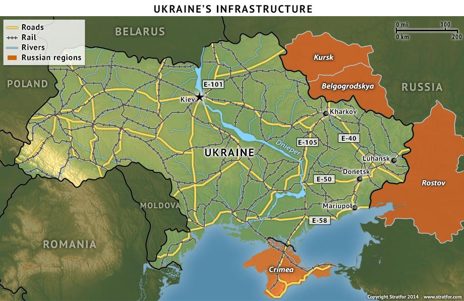 Ukraine's Infrastructure Map