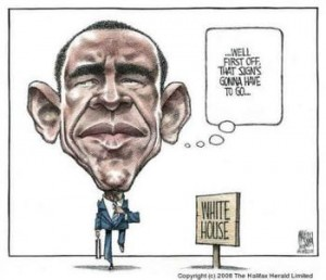 Obama & White House Sign
