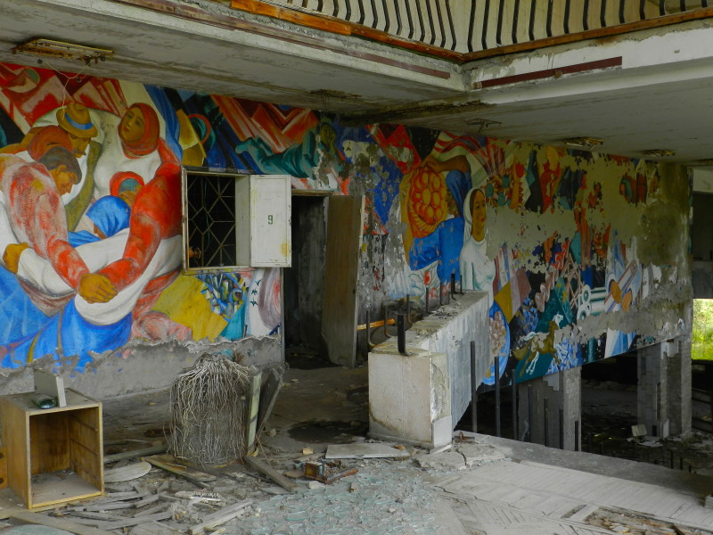 Mural in School Building