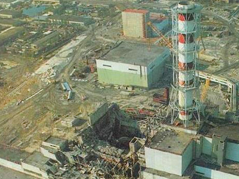 Unit 4 after Explosion April 26, 1986