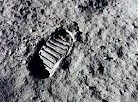 *Neil Armstrong's 1st Footprint on the Moon
