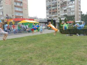 Acrobats in park