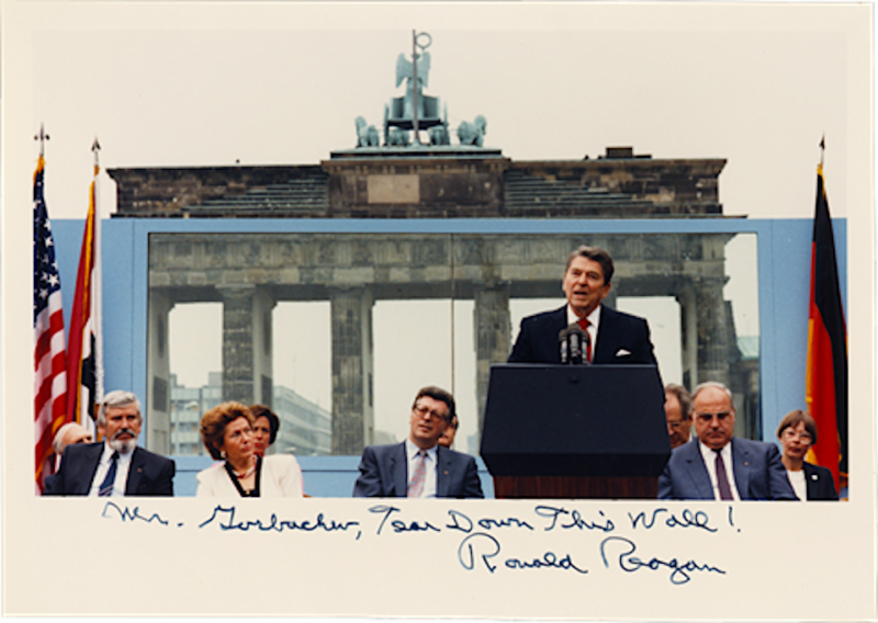 "*Pres. Ronald Reagan, ""Mr Gorbachev, Tear Down This Wall"" 870612.Jpeg"