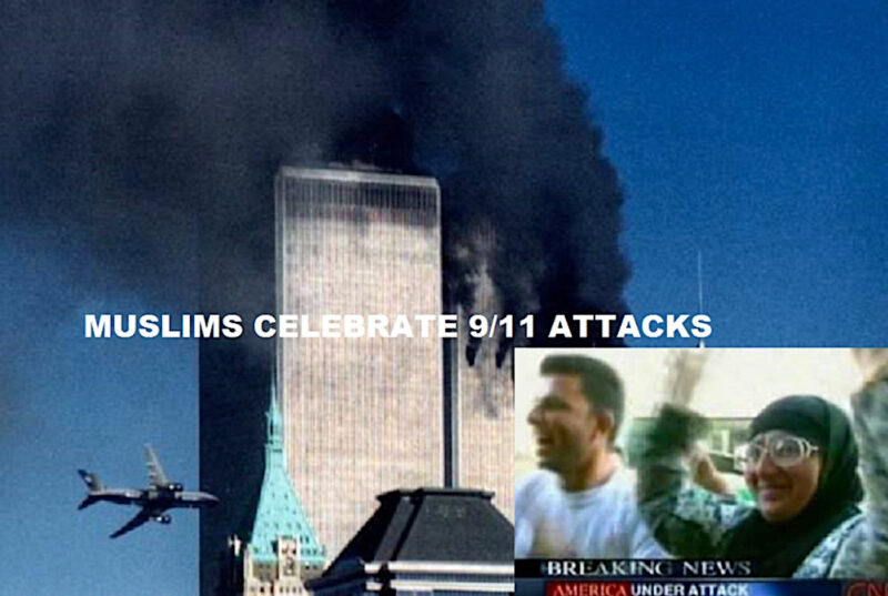 *9-11 WTC Attack w Muslims Cheering copy